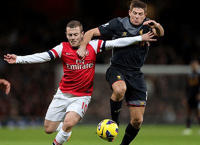 Gerrard and Wilshere AFC v LFC 300113