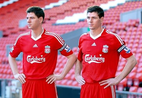 Steven Gerrard Unveils His Madame Tussauds Wax Figure At Anfield -Photocall