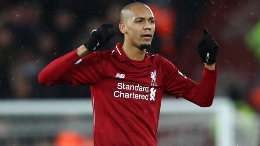 Fabinho The Tomkins Times Liverpool Player Of The Month January 2019